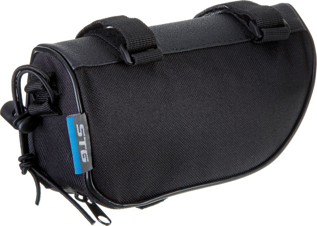 Велосумка STG 12654-A, на раму, цвет: черныйZ90 blackПростая и вместительная сумка для крепления на раму - это удобный аксессуар, который позволит перевозить небольшой набор инструментов или личные вещи во время велопрогулок.
