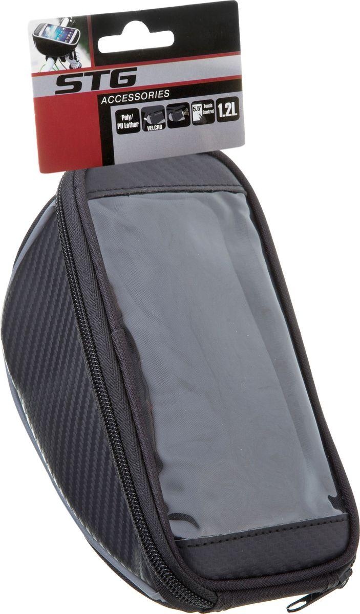 Велосумка на руль STG 11810L-A, для смартофонов, с поверхностью реагирующей на косанияКостюм Охотник-Штурм: куртка, брюкиСумка для крепления на руль - это удобный аксессуар, имеющий помимо основного отделения отсек для смартфона, который вы сможете использовать в качестве навигатора во время велопрогулок. Прозрачная поверхность позволяет управлять смартфоном, не доставая его из чехла.