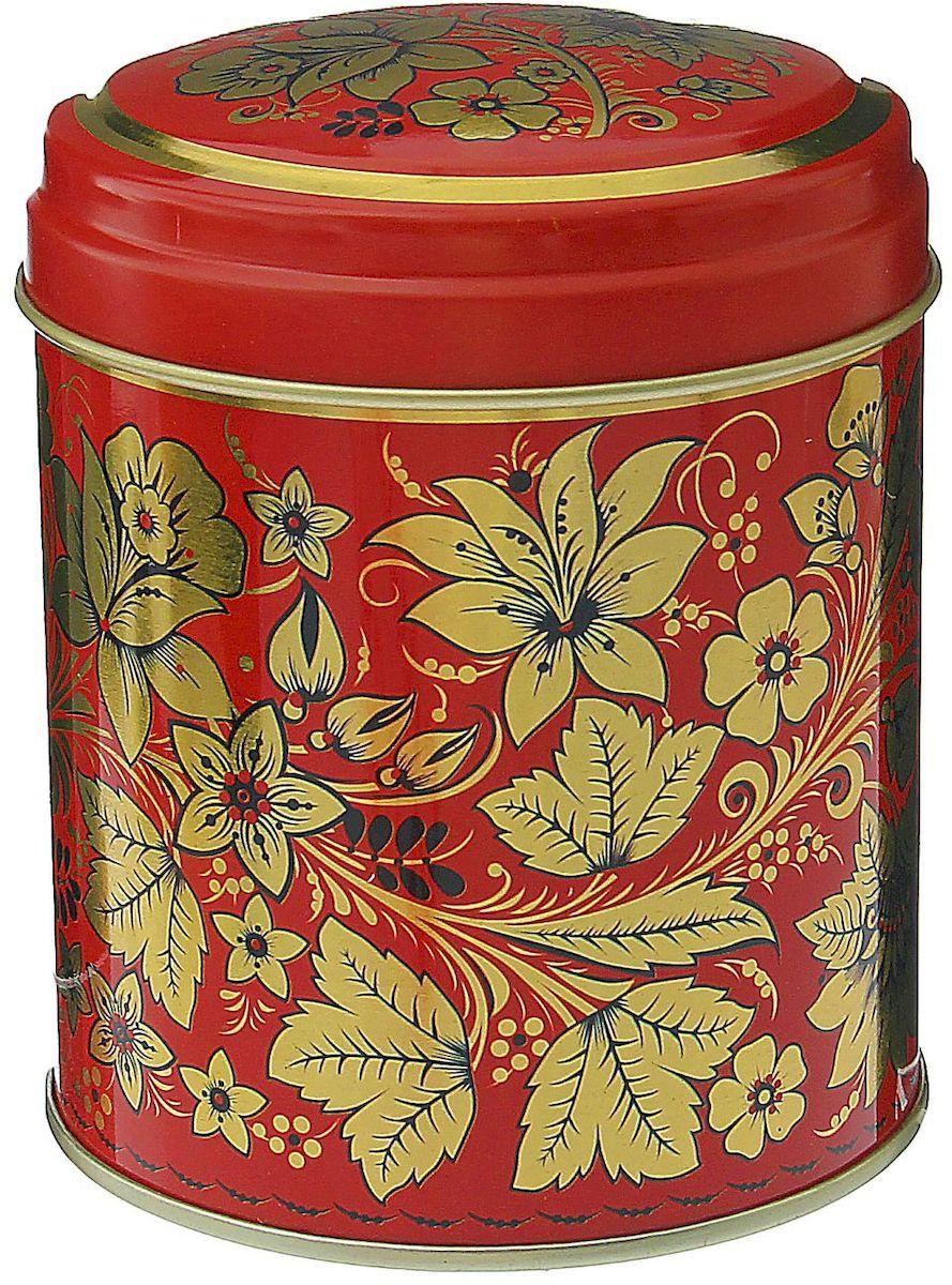 Банка для сыпучих продуктов Рязанская фабрика жестяной упаковки Хохлома. Цветы, 800 мл
