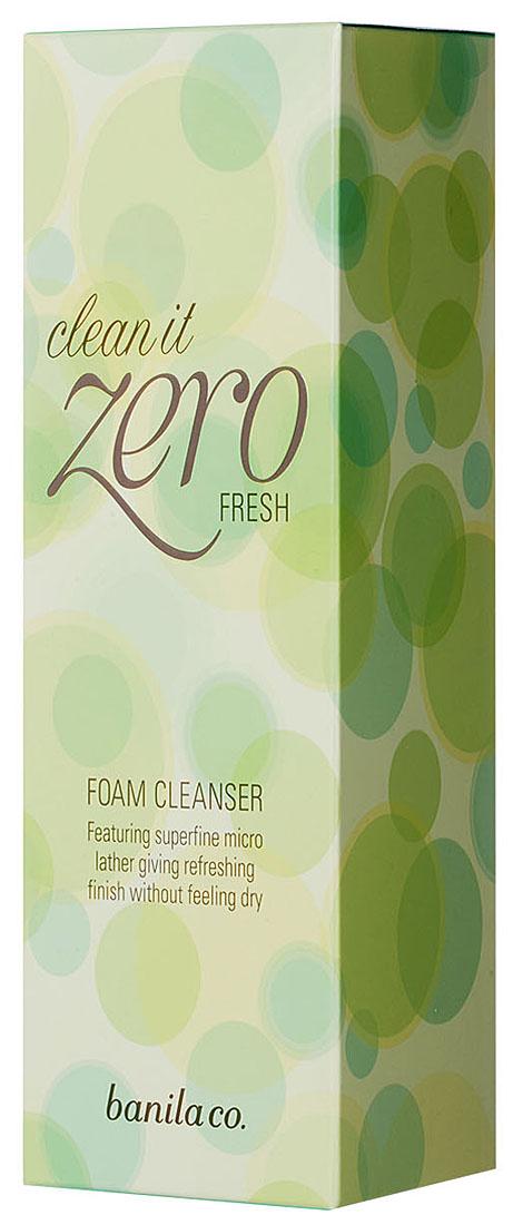 Banila Co Освежающая пенка для умывания Clean It Zero Fresh Foam Cleanser, 150 млCL0058K01Средство создает пышную пенку, тщательно очищает кожу и дарит ей свежесть. Препятствует появлению сухости и раздражению кожи. Экстракт бамбука укрепляет стенки сосудов, повышает эластичность и тонус сосудов, кровоснабжение тканей, снижает проницаемость капилляров и улучшает микроциркуляцию крови, обладает противоотечным действием. Сохраняет и поддерживает оптимальную увлажненность кожных покровов.