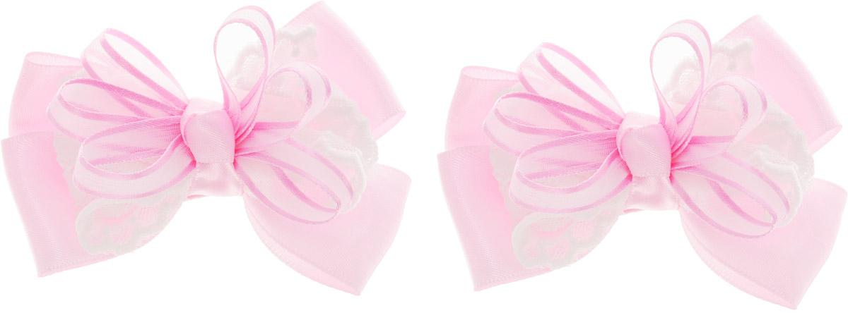 Babys Joy Бант для волос на резинке цвет розовый 2 шт MN 14MP59.4DБант для волос на резинке Babys Joy выполнен из ярких атласных лент разной ширины.Бант на резинке позволит не только убрать непослушные волосы с лица, но и придать образу романтичности и очарования. Такой аксессуар для волос подчеркнет уникальность вашей маленькой модницы и станет прекрасным дополнением к ее неповторимому стилю. Рекомендовано для детей старше трех лет.
