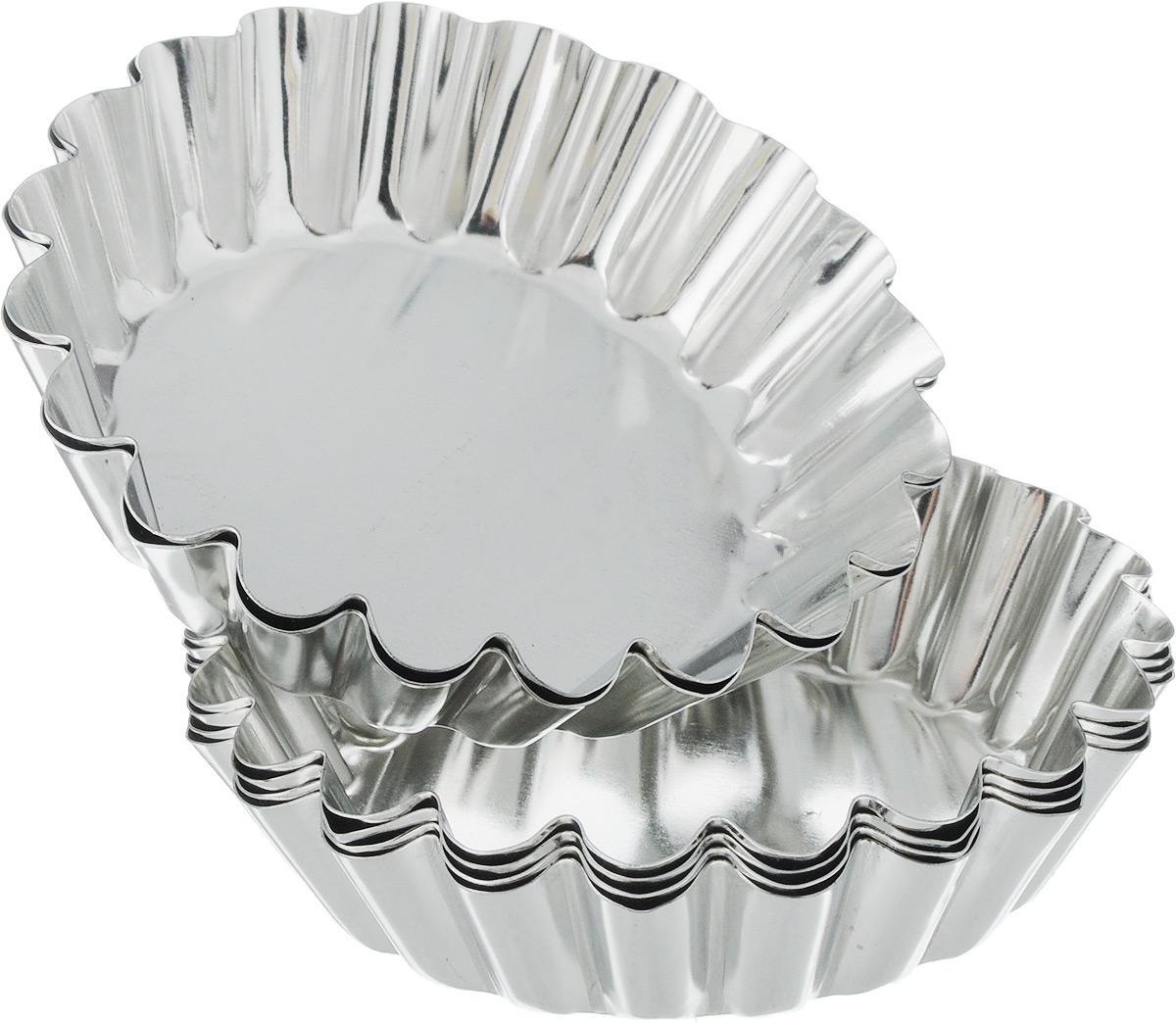 Набор формочек для кексов SNB, диаметр 9 см, 6 шт68/5/4Набор SNB включает 6 формочек для кексов, выполненных из луженой жести. Изделия обладают превосходными антипригарными свойствами и не содержат в составе вредных веществ. Металлические стенки быстро распределяют тепло, поэтому выпечка пропекается равномерно. Форма изделий с рифлеными стенками идеальна для приготовления кексов. Формы пригодны для духовки. Не подходят для использования в микроволновой печи и посудомоечной машине.Диаметр формы: 9 см.