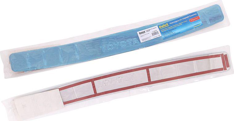 Накладка бампера декоративная DolleX, для TOYOTA Corolla (2014 ->)47405Придают автомобилю стильный и неповторимый вид, эффективно защищает бампер от повреждения лакокрасочного покрытия.Отличительные особенности:- Полированная нержавеющая сталь;- Толщина стали 0,5 мм.;- Стильный внешний вид;- Легкая и быстрая установка;- Крепление лента липкая двухсторонняя.