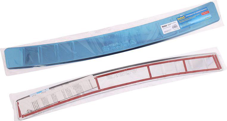 Накладка бампера декоративная DolleX, для SKODA RapidAO-CS-19Придают автомобилю стильный и неповторимый вид, эффективно защищает бампер от повреждения лакокрасочного покрытия.Отличительные особенности:- Полированная нержавеющая сталь;- Толщина стали 0,5 мм.;- Стильный внешний вид;- Легкая и быстрая установка;- Крепление лента липкая двухсторонняя.