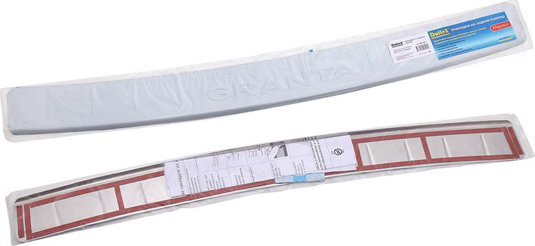 Накладка бампера декоративная DolleX, для LADA Granta ВАЗ-2191 лифтбек16503Придают автомобилю стильный и неповторимый вид, эффективно защищает бампер от повреждения лакокрасочного покрытия.Отличительные особенности:- Полированная нержавеющая сталь;- Толщина стали 0,5 мм.;- Стильный внешний вид;- Легкая и быстрая установка;- Крепление лента липкая двухсторонняя.