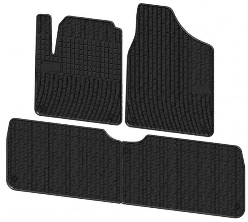 Коврики в салон автомобиля Rival, для Volkswagen Sharan 2005-2010, 3 шт54 009312Автомобильные коврики салона Rival Прочные и долговечные коврики в салон автомобиля, изготовлены из высококачественного и экологичного сырья, полностью повторяют геометрию салона вашего автомобиля.- Надежная система крепления, позволяющая закрепить коврик на штатные элементы фиксации, в результате чего отсутствует эффект скольжения по салону автомобиля.- Высокая стойкость поверхности к стиранию.- Специализированный рисунок и высокий борт, препятствующие распространению грязи и жидкости по поверхности коврика.- Произведены из первичных материалов, в результате чего отсутствует неприятный запах в салоне автомобиля.- Высокая эластичность, можно беспрепятственно эксплуатировать при температуре от -45 ?C до +45 ?C.Уважаемые клиенты!Обращаем ваше внимание, что коврики имеет форму соответствующую модели данного автомобиля. Фото служит для визуального восприятия товара.