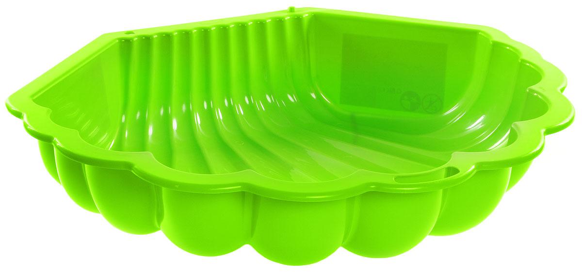 Mochtoys Песочница Ракушка цвет зеленый 10196 - Игры на открытом воздухе