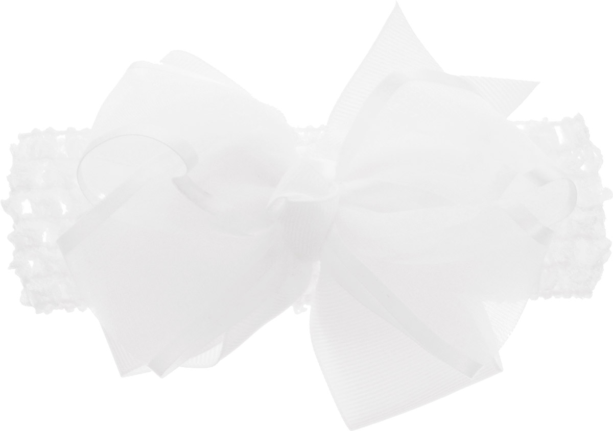 Babys Joy Повязка для волос цвет белый MN 11Satin Hair 7 BR730MNПовязка для волос Babys Joy выполнена из текстиля, имеет сетчатую структуру и дополнена текстильным цветком из полупрозрачной ткани с атласными лентами по периферии. Повязка позволит не только убрать непослушные волосы с лица, но и придать образу немного романтичности и очарования. Повязка для волос Babys Joy подчеркнет уникальность вашей маленькой модницы и станет прекрасным дополнением к ее неповторимому стилю.