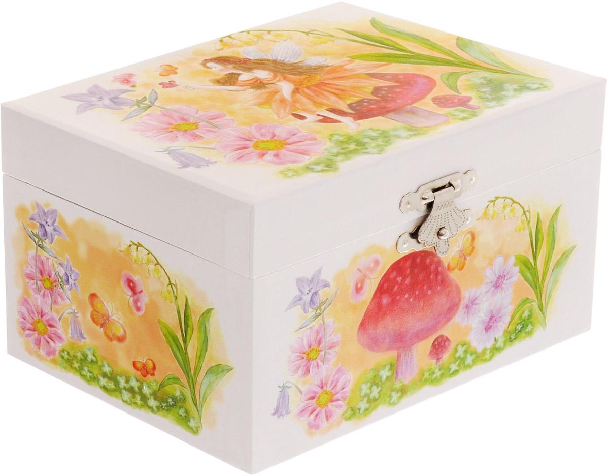 Музыкальная шкатулка Фея, 15 см х 10,5 см х 8,5 см шкатулки magic home шкатулка дождь в париже