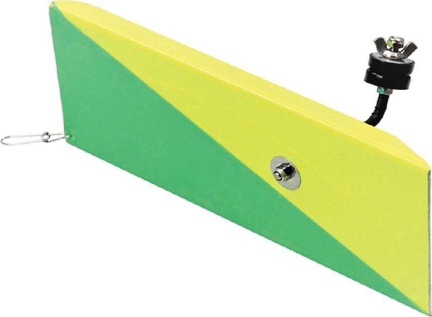 Планер Blind Metal Planer, левый, цвет: желтый, 10936Планер левый Blind BLD-12038 Metal Planer - деталь, которая выдерживает даже крупные воблеры. Рыболовная снасть окрашена прочной водостойкой и ударопрочной эмалью. Изготовлен планер из ударопрочного материала и отводит приманку от лодки на 5-10 метров, что позволяет использовать большее количество снастей и существенно расширить зону ловли.Материал: металл