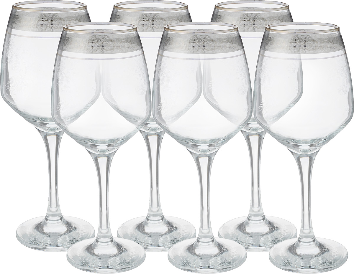 Набор фужеров Гусь Хрустальный Изабелла. Нежность, 325 мл, 6 штTL34-4171Набор Гусь-Хрустальный Изабелла. Нежность состоит из 6 фужеров на изящных длинных ножках, изготовленных из высококачественного натрий-кальций-силикатного стекла. Изделия предназначены для подачи холодных напитков, вина и многого другого. Фужеры оформлены красивым зеркальным покрытием с орнаментом. Такой набор прекрасно дополнит праздничный стол и станет желанным подарком в любом доме. Разрешается мыть в посудомоечной машине. Диаметр фужера (по верхнему краю): 5,5 см. Высота фужера: 20,5 см.
