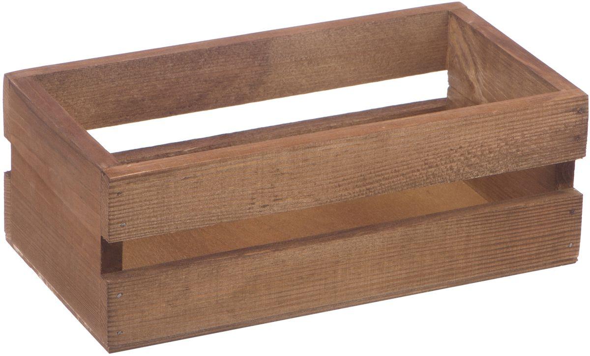 Кашпо Engard Ящик. Британь, 26 х 14 х 9,5 смC0038550Ящик деревянный Британь - это стильный и необычный элемент для декора дома. Выполненное в деревенском стиле, кашпо понравится поклонникам экологичности и натуральности в интерьере.