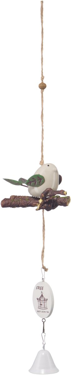 Украшение декоративное Engard Птичка с колокольчиком, цвет: белый, 42 х 10 см украшение декоративное homsu голова оленя 29 5 x 46 x 42 5 см