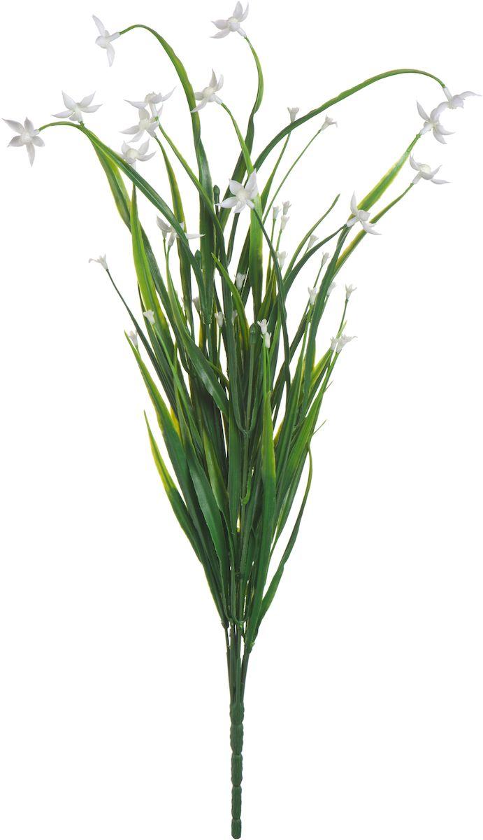 Цветы искусственные Engard Птицемлечник, цвет: белый, 45 смст450-2нсИскусственные цветы Engard - это популярное дизайнерское решение для создания природного колорита и индивидуальности в интерьере. Декоративный птицемлечник выполнен из высококачественного материала передающего неповторимую естественность и является достойной альтернативой натуральным цветам. Необычные размеры и броские формы соцветий отлично подходят для создания эксклюзивных композиций. Не требует постоянного ухода. Цвет: фиолетовый/белый/желтый.Размер: 45 см.