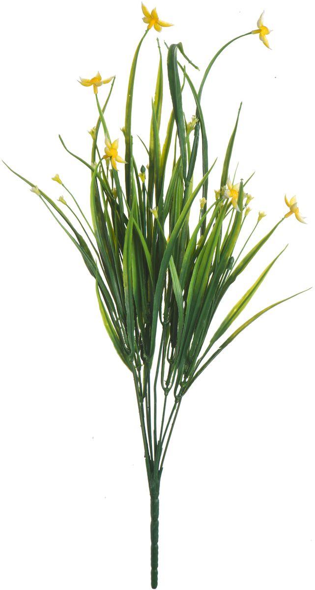 Цветы искусственные Engard Птицемлечник, цвет: желтый, 45 см531-402Искусственные цветы Engard - это популярное дизайнерское решение для создания природного колорита и индивидуальности в интерьере. Декоративный птицемлечник выполнен из высококачественного материала передающего неповторимую естественность и является достойной альтернативой натуральным цветам. Необычные размеры и броские формы соцветий отлично подходят для создания эксклюзивных композиций. Не требует постоянного ухода. Цвет: фиолетовый/белый/желтый.Размер: 45 см.