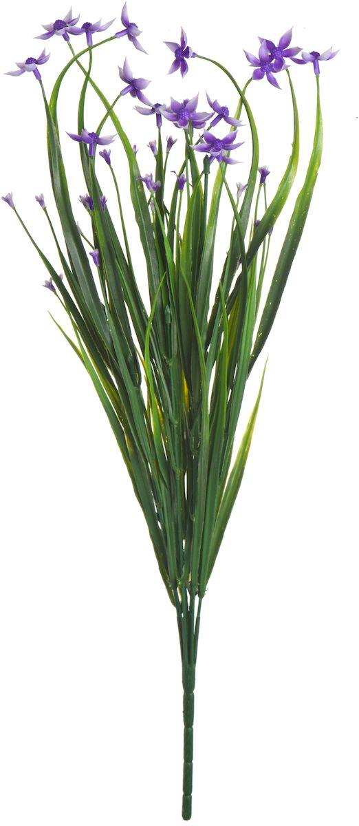 Цветы искусственные Engard Птицемлечник, цвет: фиолетовый, 45 см531-402Искусственные цветы Engard - это популярное дизайнерское решение для создания природного колорита и индивидуальности в интерьере. Декоративный птицемлечник выполнен из высококачественного материала передающего неповторимую естественность и является достойной альтернативой натуральным цветам. Необычные размеры и броские формы соцветий отлично подходят для создания эксклюзивных композиций. Не требует постоянного ухода. Цвет: фиолетовый/белый/желтый.Размер: 45 см.