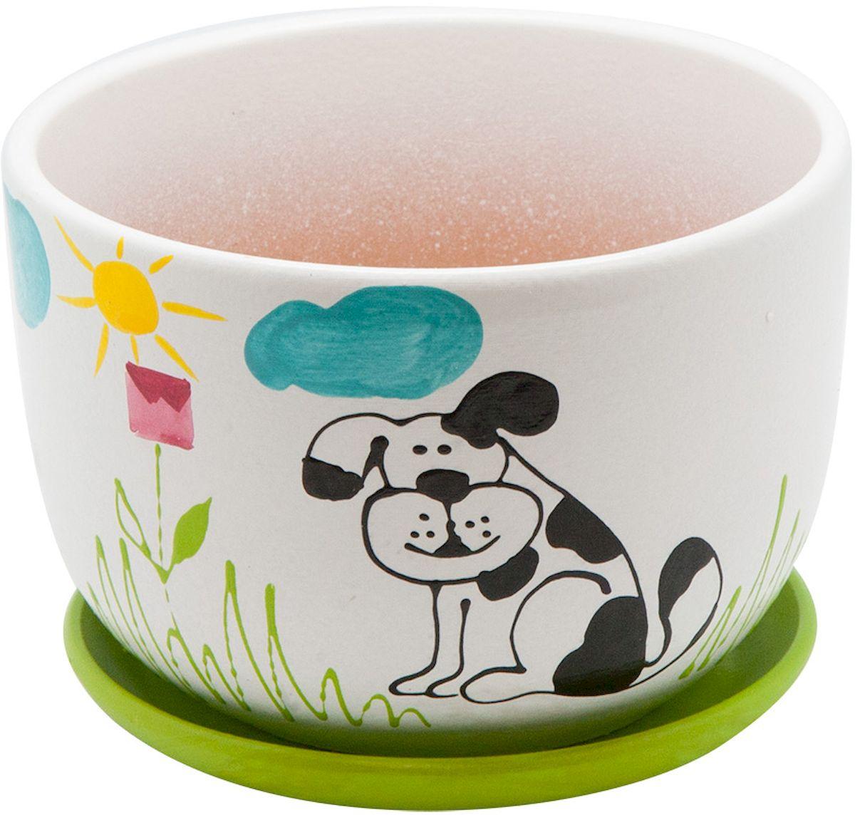 Горшок цветочный Engard Собака, с поддоном, 1,05 лBH-10-4Горшок для цветов Engard Собака выполнен из высококачественной глины в классической форме и оригинальном дизайне. Изделие оснащено поддоном для стока жидкости. Горшок имеет стильный дизайн, поэтому прекрасно впишется в любой интерьер. Объем горшка: 1,05 л.