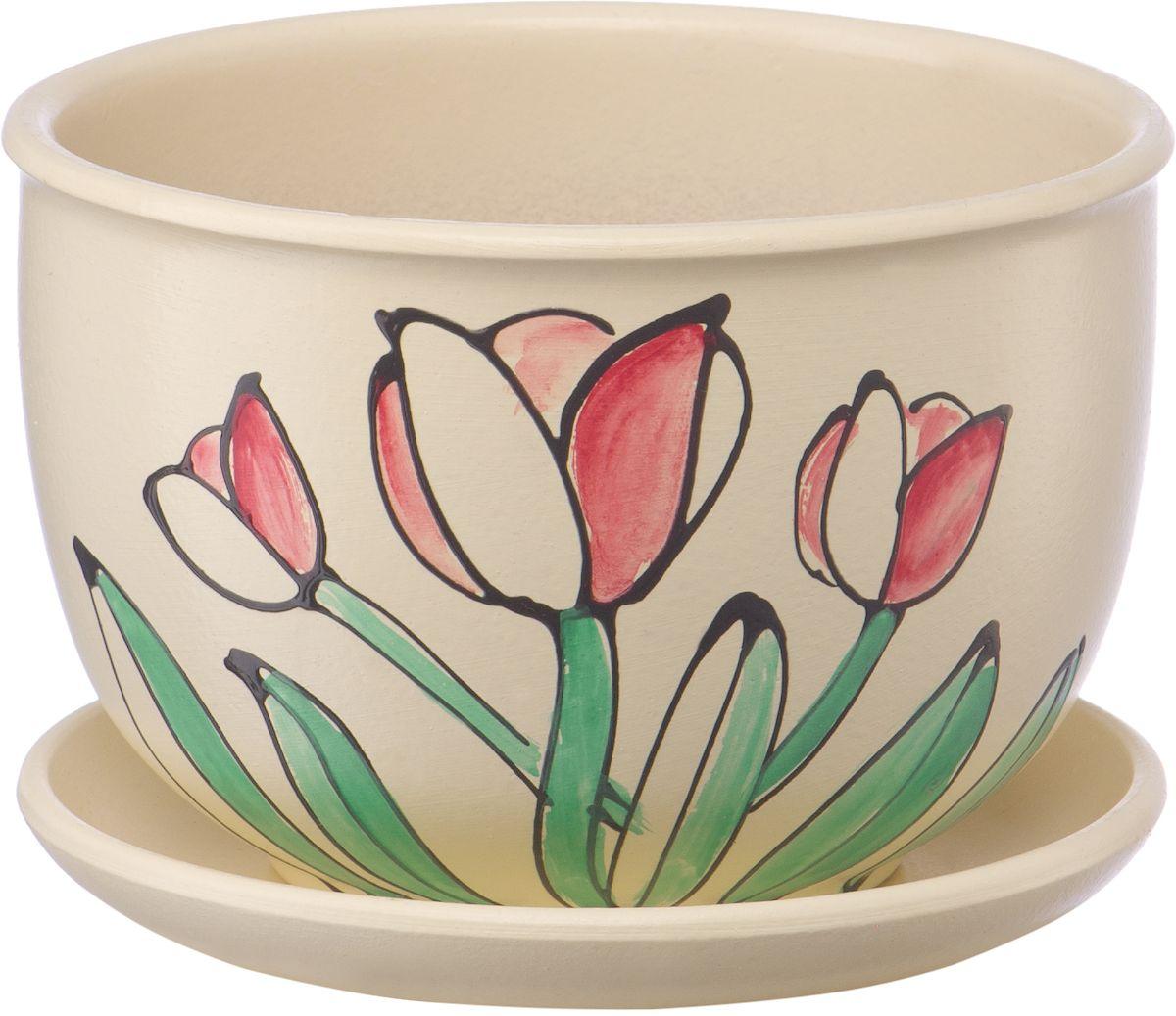 Горшок цветочный Engard, с поддоном, 0,5 л. BH-12-8BH-12-8Керамический горшок Engard - это идеальное решение для выращивания комнатных растений и создания изысканности в интерьере. Керамический горшок сделан из высококачественной глины в классической форме и оригинальном дизайне.