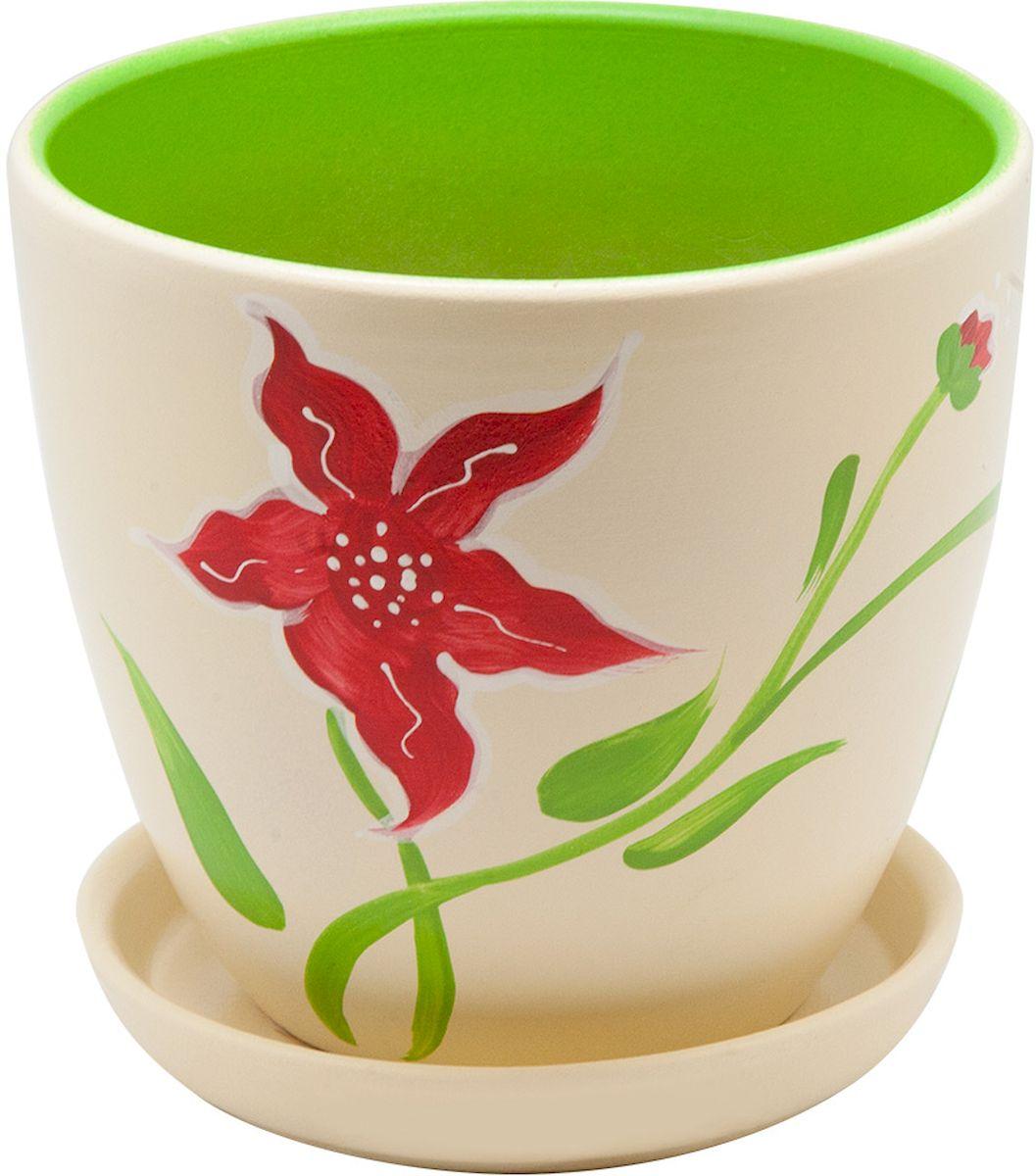 Горшок цветочный Engard, с поддоном, 1,4 л. BH-15-1C0042416Керамический горшок - это идеальное решение для выращивания комнатных растений и создания изысканности в интерьере. Керамический горшок сделан из высококачественной глины в классической форме и оригинальном дизайне.