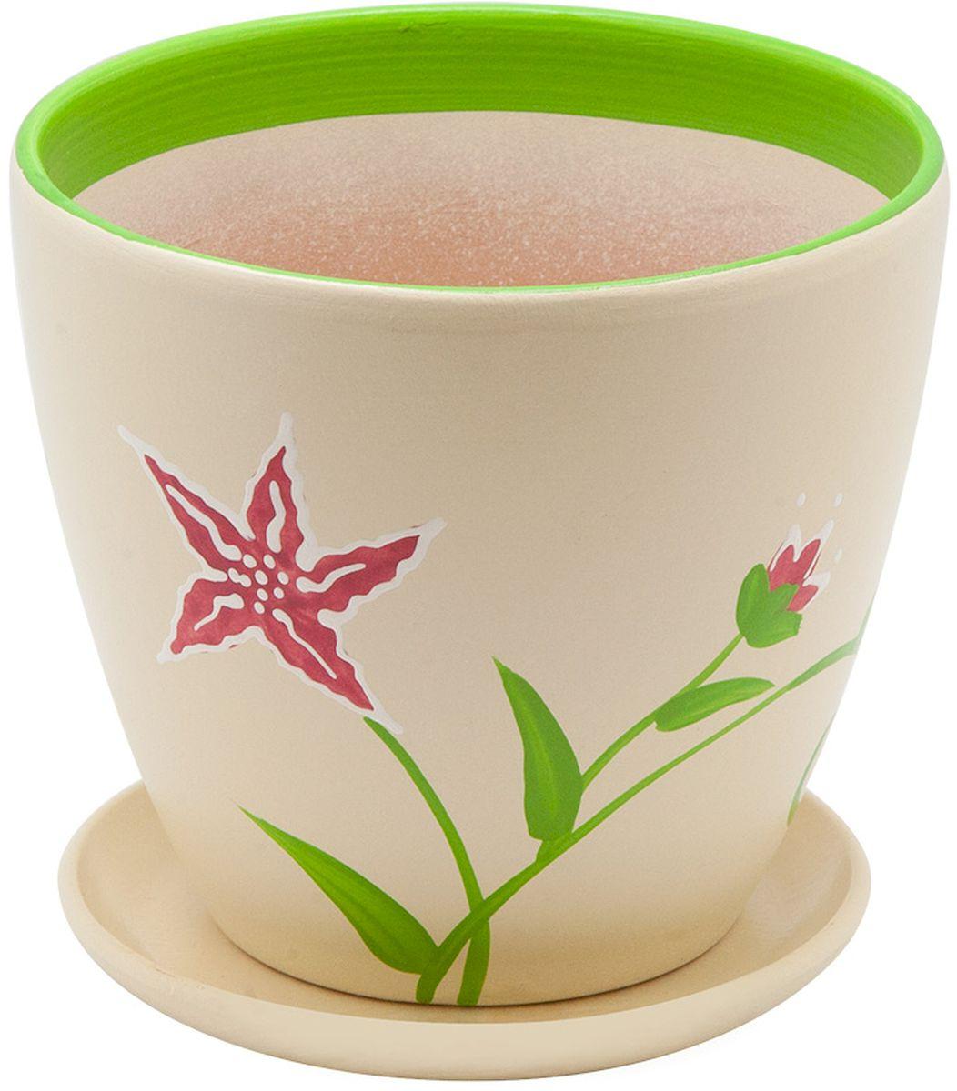 Горшок цветочный Engard, с поддоном, 2,4 л. BH-15-2C0042416Керамический горшок - это идеальное решение для выращивания комнатных растений и создания изысканности в интерьере. Керамический горшок сделан из высококачественной глины в классической форме и оригинальном дизайне.