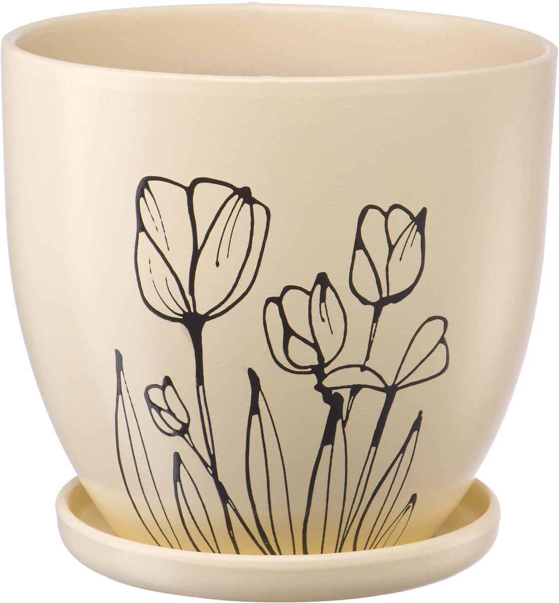 Горшок цветочный Engard, с поддоном, 4,7 л. BH-23-3BH-23-3Керамический горшок Engard - это идеальное решение для выращивания комнатных растений и создания изысканности в интерьере. Керамический горшок сделан из высококачественной глины в классической форме и оригинальном дизайне.Объем: 4,7 л.