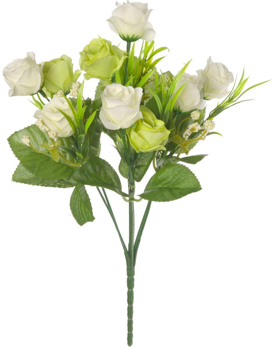Цветы искусственные Engard Роза в букете, цвет: белый, желтый, высота 27 см. E4-238BE4-238BИскусственные цветы Engard - это популярное дизайнерское решение для создания природного колорита и индивидуальности в интерьере. Декоративный букет роз из семи цветков белого и желтого цвета выглядит довольно реалистично, изящно и является достойной альтернативой натуральным цветам. Розы имеют идеально собранную форму. Не требует постоянного ухода. Высота: 27 см .