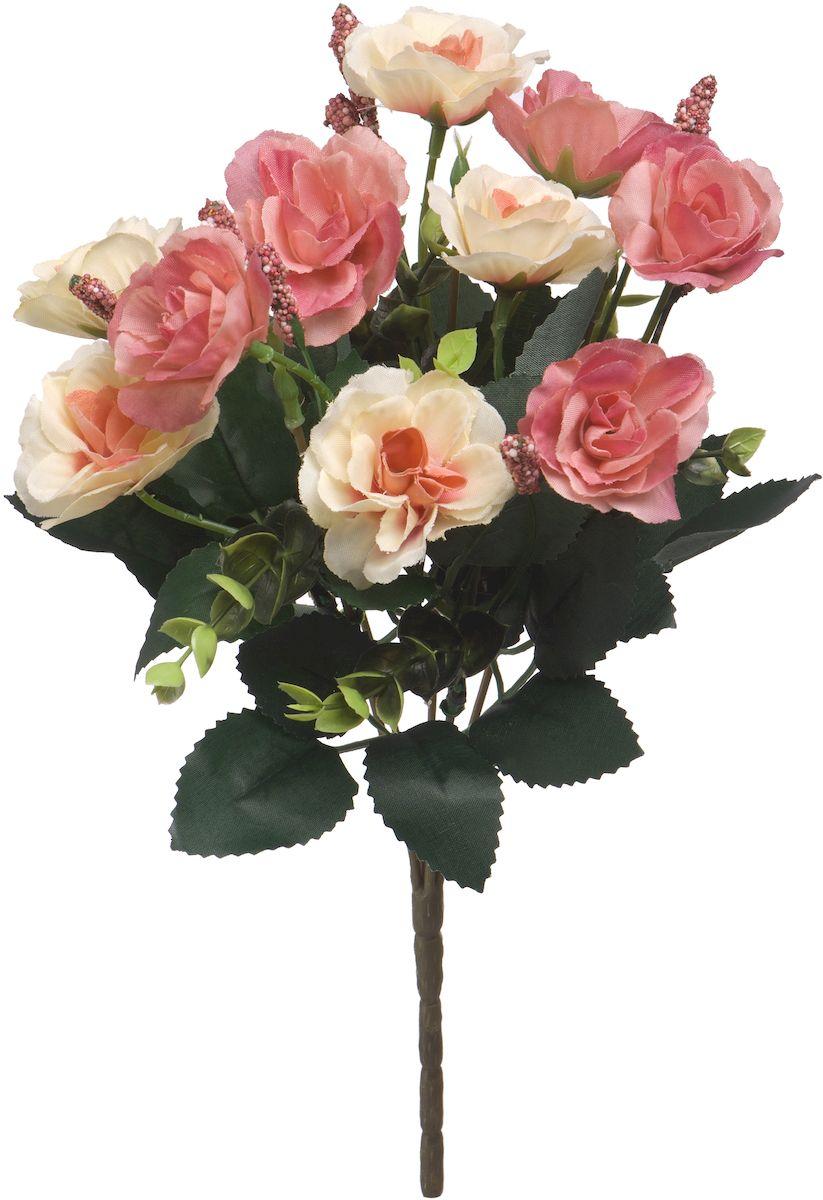 Цветы искусственные Engard Роза в букете, 30 смK100Искусственные цветы Engard - это популярное дизайнерское решение для создания природного колорита и индивидуальности в интерьере. Декоративный букет роз из семи цветков пудрового цвета выглядит довольно реалистично, нежно и является достойной альтернативой натуральным цветам. Розы имеют идеально собранную форму. Не требует постоянного ухода. Размер: 30 см.