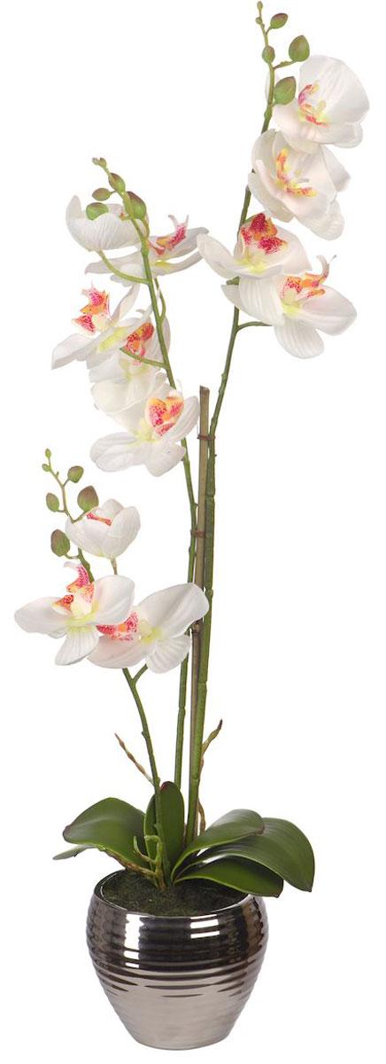 Цветы декоративные Engard Орхидея, в вазе, 12 х 12 х 62 см531-105Искусственные цветы Engard - это популярное дизайнерское решение для создания природного колорита и гармонии в пространстве. Искусственная белая орхидея высотой 50 см в серебристой вазе выполнена из высококачественного материала передающего неповторимую естественность и является достойной альтернативой живым цветам.Не требует постоянного ухода.