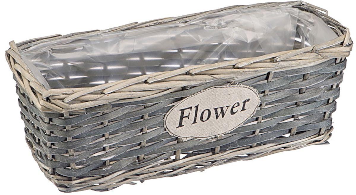 Кашпо прямоугольное Natural House Flower, 35 х 14 х 12 см531-401Прямоугольное кашпо выполнено из натуральной ивы. Красивое и экологичное, оно станет прекрасным украшением интерьера. Интересный дизайн в стиле прованс создаст уют и добавит жизни в атмосферу помещения.