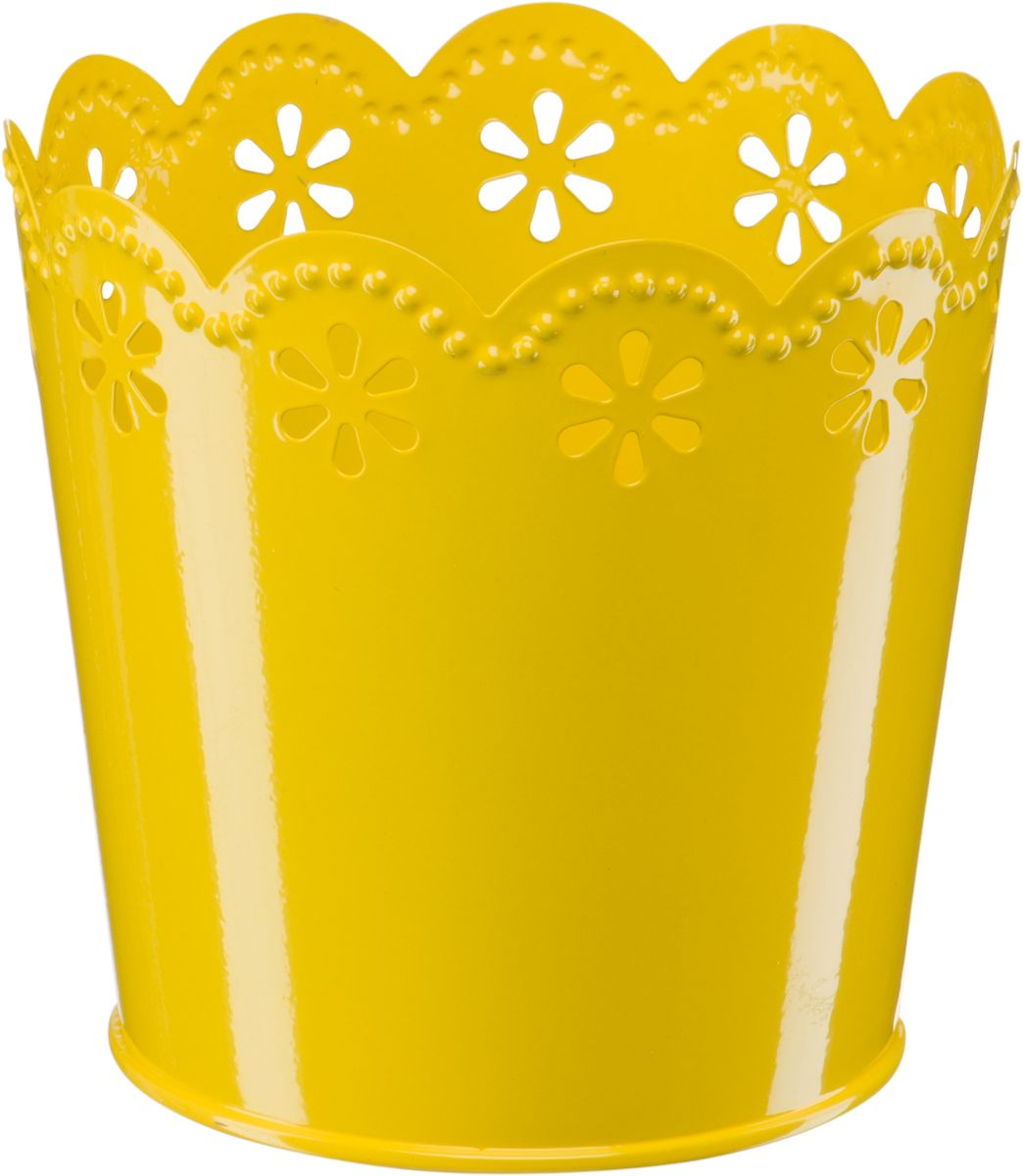 Кашпо Engard, цвет: желтый, 12,5 х 10 х 13 смА058Кашпо Engard, предназначенное для посадки декоративных растений, станет прекрасным украшением для дома. Яркая расцветка привлекает к себе внимание и поднимает настроение. Материал изготовления - металл.