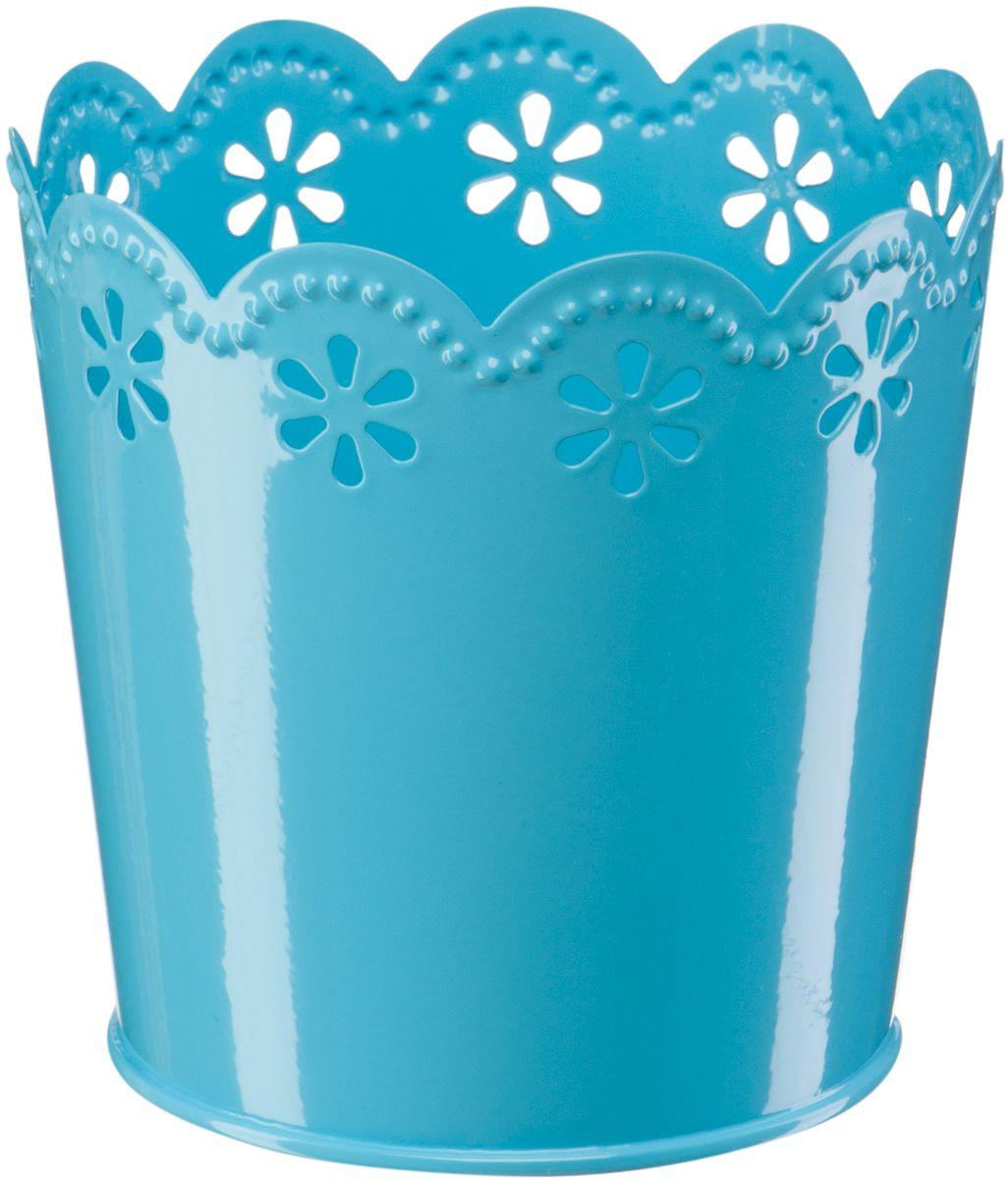 Кашпо Engard, цвет: синий, 12,5 х 10 х 13 смА065Кашпо Engard, предназначенное для посадки декоративных растений, станет прекрасным украшением для дома. Яркая расцветка привлекает к себе внимание и поднимает настроение. Материал изготовления - металл.