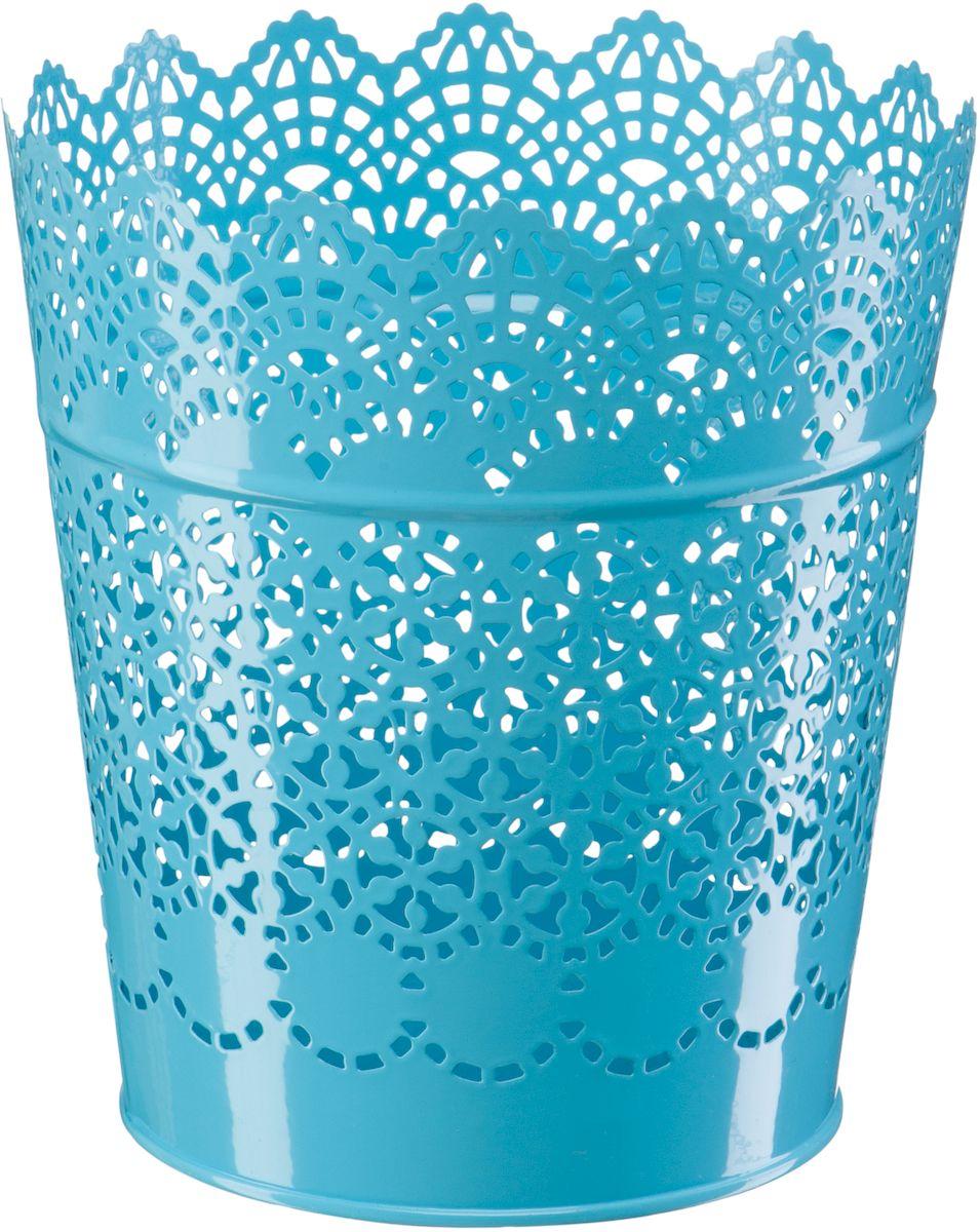 Кашпо Engard, цвет: синий, 15,2 х 11,6 х 17 см531-105Кашпо с вырезными узорами, предназначенное для посадки декоративных растений, станет прекрасным украшением для дома. Яркая расцветка привлекает к себе внимание и поднимает настроение. Материал изготовления - металл.