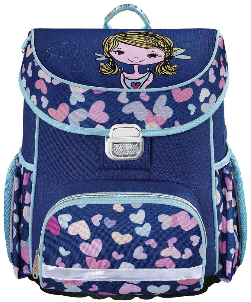 Hama Ранец школьный Lovely Girl цвет синий139078