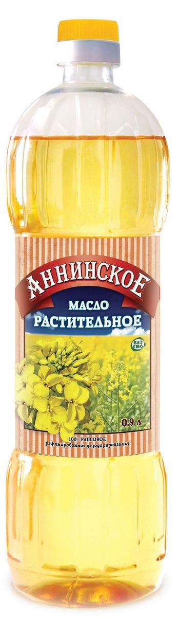 Аннинское подсолнечное рафинированное дезодорированное масло первый сорт, 900 мл0120710Подсолнечное масло Аннинское идеально подходит для выпечки, жарки, заправки салатов и прочих кулинарных изысков. Масло Аннинское – отличное сочетание высокого качества и доступной цены! Не содержит ГМО.