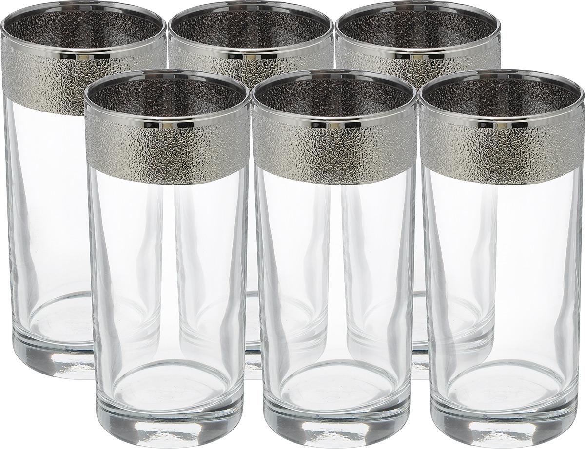 Набор стаканов Гусь Хрустальный Золотой карат, 290 мл, 6 шт335169Набор Гусь Хрустальный Золотой карат состоит из шести стаканов, выполненных из прочного натрий-кальций-силикатного стекла. Прекрасно подходят для сока, воды, коктейлей и других напитков. Качество изготовления, сверкающий блеск и неповторимый дизайн сделают этот набор незаменимым на вашей кухне.Можно мыть в посудомоечной машине или вручную с использованием моющих средств, не содержащих абразивных материалов.Диаметр стакана (по верхнему краю): 6 см. Высота стакана: 13,5 см.