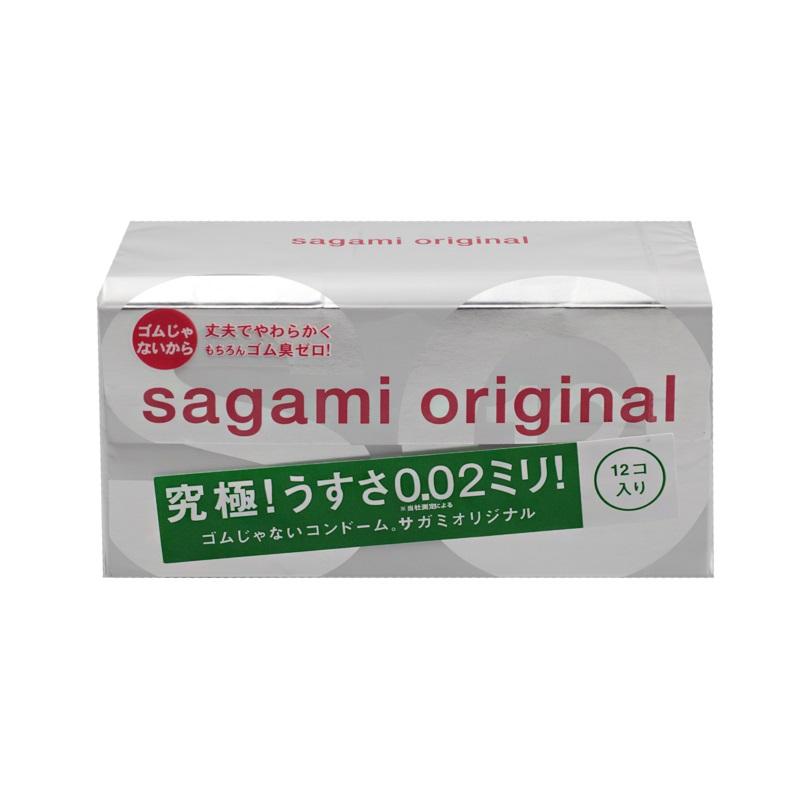 """Sagami Original 002 - 12 шт Полиуретановые презервативы 0,02 мм143144Sagami original 002 - самые тонкие и надежные презервативы в Мире! Толщина стенки 0.02mm - в три раза тоньше, чем у стандартных латексных презервативов. Прочность полиуретановых презервативов в 2 раза выше в тестах на растяжение и в 3 раза выше в тестах на объемное расширение. Их теплопроводность в 7 раз выше, чем у латекса. Тепло передается так, как если бы презерватива не было. Полиуретановые презервативы не содержат протеинов и, как следствие, нет специфического """"латексного"""" или резинового запаха. Высокая плотность укладки молекул полиуретана делает поверхность исключительно гладкой и способствует натуральности ощущений. Высокая прозрачность способствует полноте визуальных ощущений Отсутствие протеинов и химических катализаторов исключает соответствующие аллергические реакции. (по статистике, аллергию на латекс, в разных странах имеют от 3 до 10% населения) Высокая стабильность при температурных перепадах увеличивает надежность и срок годности. Нетоксичность и полная биосовместимость полиуретана способствуют безопасности в использовании. Благодаря биосовместимости и высокой надежности, именно этот материал широко используется в производстве катетеров для сосудов и искусственного сердца. Длина: 190 + / - 10mm, ширина: 58 + / - 2 мм. Толщина стенки - 0.02 мм (20 микрон). Материал: полиуретан. Силиконовая смазки. Для одноразового использования. Хранить в сухом прохладном месте вдали от тепла и солнечного света. Срок годности 5 лет."""