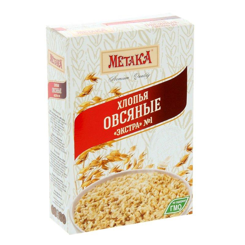 Метака хлопья овсяные экстра, 400 г959Хлопья Метака изготовлены на 100% из цельных злаков, которые содержат все компоненты зерна в природном соотношении. Они сохраняют всю природную пользу - ценные пищевые волокна (клетчатку), минеральные вещества и витамины.Благодаря своему высокому содержанию растительных жиров овес также известен как энергетический злак. Он содержит важные питательные волокна, богатые бета-глюканами. Овсяные хлопья содержат наибольшее количество питательных компонентов овса.