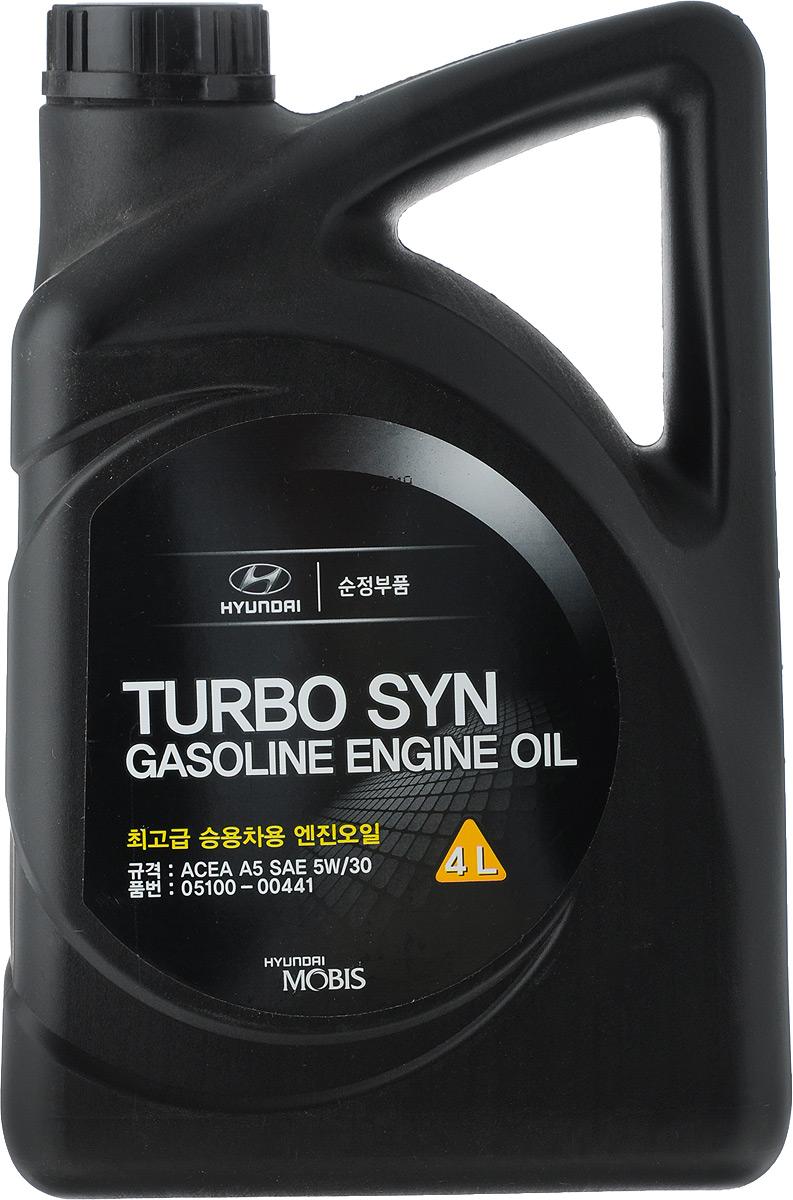 Моторное масло Hyundai / KIA TURBO SYN, SM/GF-4, класс вязкости 5W-30, 4 л05100-00441Hyundai Turbo SYN SAE 5W-30 обеспечивает отличные температурно- вязкостныехарактеристики; обеспечивает надежную защиту двигателя от износа во всемдиапазоне рабочих температур; синтетическая основа масла обеспечивает лёгкийхолодный пуск двигателя даже при экстремально низких температурах; высокаястабильность вязкостных характеристик в течение всего срока службыспособствует экономии топлива; не оказывает вредного воздействия на самыесовременные системы очистки выхлопных газов.Товар сертифицирован.
