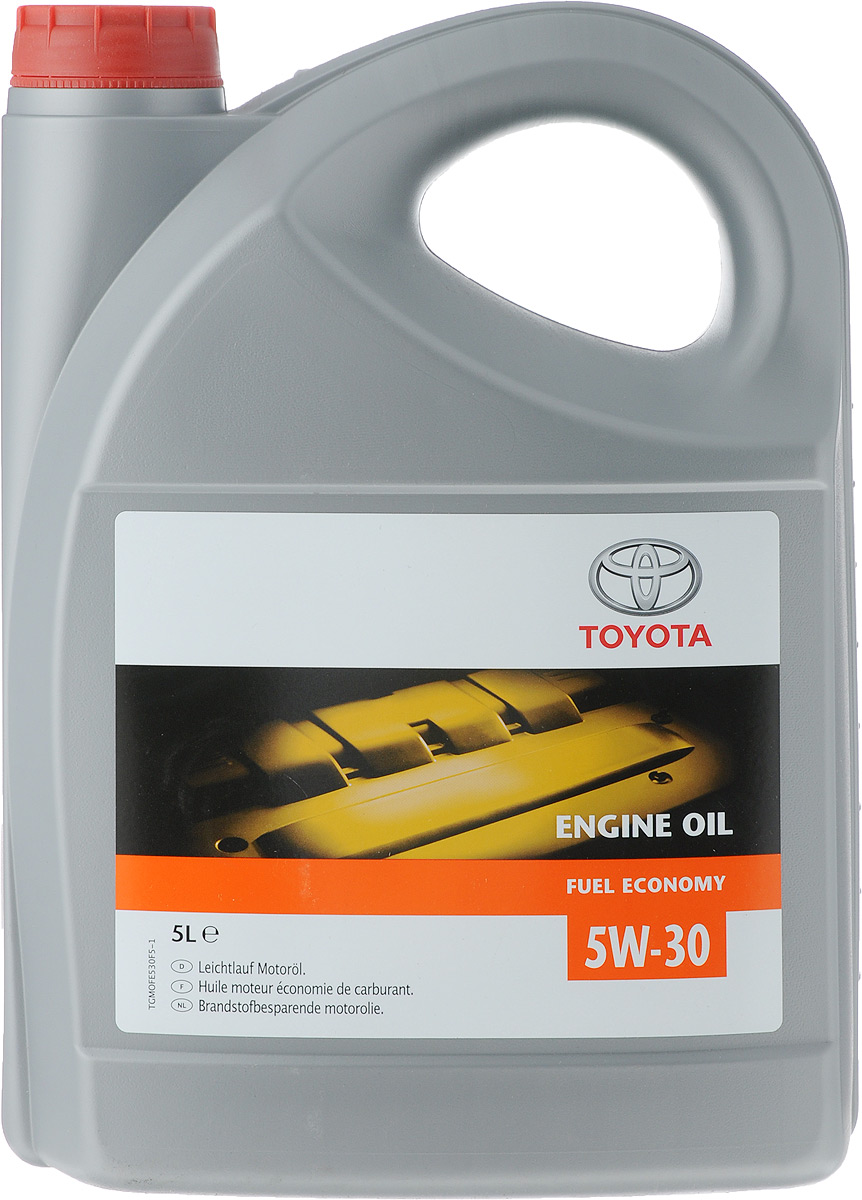 Моторное масло Toyota, клас вязкости 5W-30, 5 лS03301004Масло имеет энергосберегающие характеристики; способствует экономии топлива; состоит из тщательно отобранной, химически;модифицированной масляной основы и присадок, повышающих эффективность работы двигателя; обеспечивает оптимальные защитные свойства масла; облегчает холодный запуск двигателя.Товар сертифицирован.