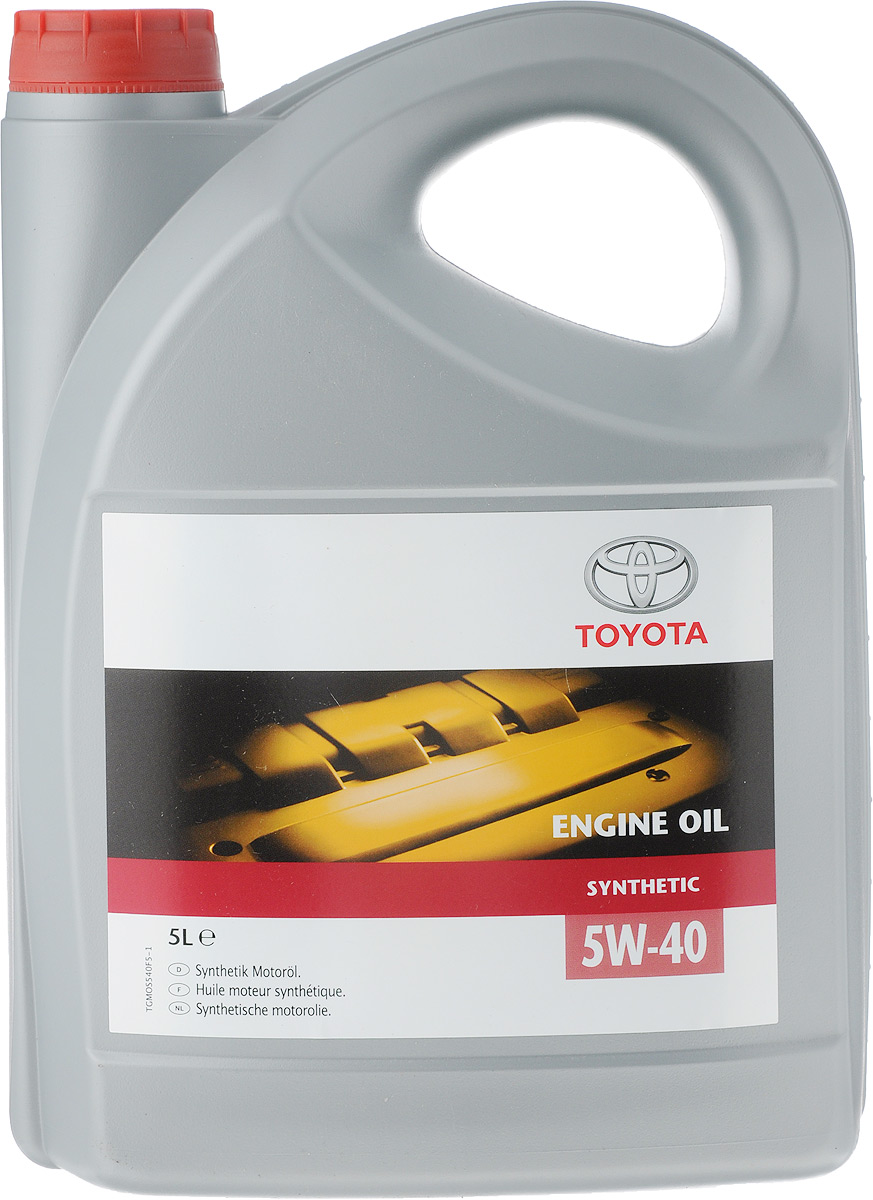 Моторное масло Toyota SAE SM/CF A3/B3/B4, синтетическое, класс вязкости 5W40, 5 л08880-80835Оригинальное моторное масло Toyota 5W40 отвечает самым жестким требованиям, предъявляемым к маслам последнего поколения.Стабильность вязкостных и смазывающих свойств, постоянство эксплуатационных характеристик в различных условиях работы, отличная текучесть при низких температурах - вот отличительные черты оригинального моторного масла Toyota 5W40.Класс по ACEA: A3, B3, B4; по API: SL / CF.
