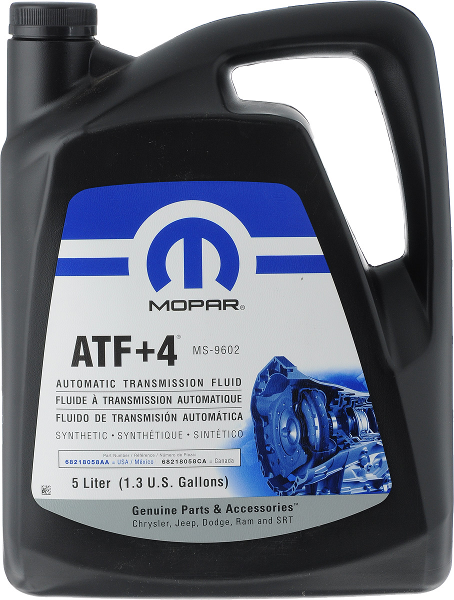 Гидравлическое масло MOPAR ATF +4, 5 лG052167M2Обеспечивает комфортное переключение передач при низких температурах, имеет длительный срок службы. Также рекомендуется для некоторых механических трансмиссий и гидроусилителей рулевого управления. Имеет очень высокие показатели по температуре застывания и индексу вязкости. Непревзойденные характеристики по противоизносным и антикоррозийным свойствам. Товар сертифицирован.