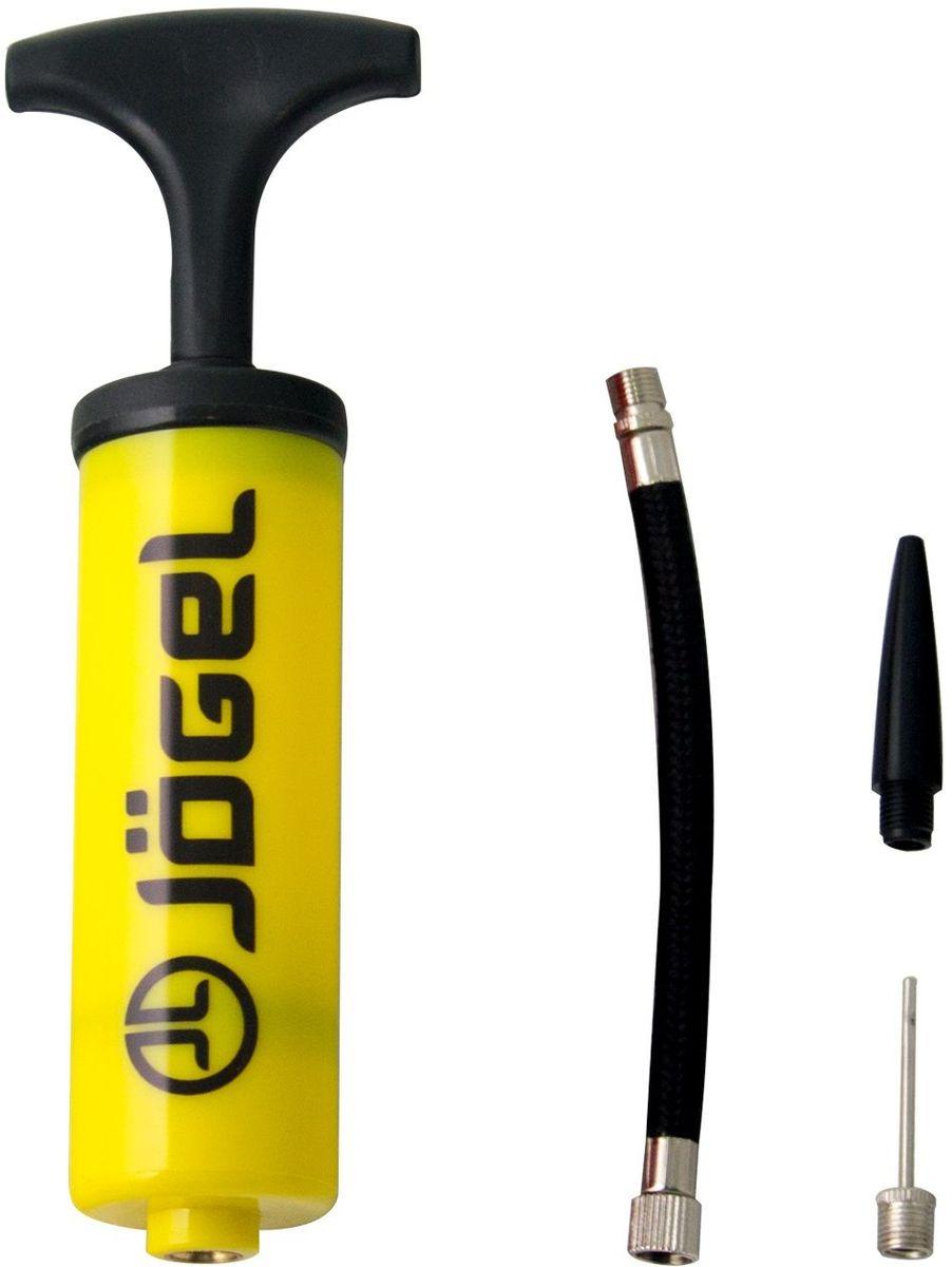 Насос Jogel JA-101, с насадкой для фитбола , цвет: желтый, 16 смBY4533Универсальный ручной насос Jogel с Т-образной ручкой. Эффективен при накачке мячей любых типов. Благодаря небольшим габаритам и удобной упаковке, его легко брать собой в поездку.В комплект входит гибкий съемный шланг, стандартная игла и насадка для фитбола.