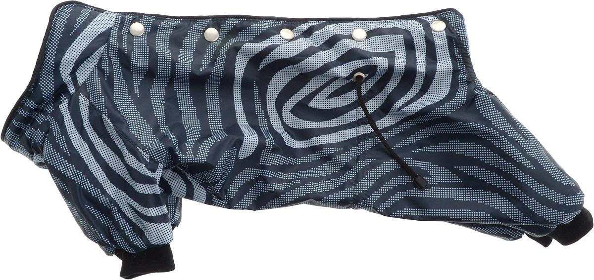 Комбинезон для собак Yoriki Зебра, для мальчика. Размер L. 448-13DM-160339Теплый комбинезон для собак Yoriki Зебра отлично защитит вашего питомца в холодную погоду от осадков и ветра. Комбинезон изготовлен из водоотталкивающего полиэстера. Утеплитель из вискозы сохранит тепло и обеспечит уют во время зимних прогулок. Модель оформлена металлическими кнопками и дополнена утягивающими шнурками в поясе. Благодаря такому комбинезону вашему питомцу будет комфортно наслаждаться прогулкой. Длина по спинке: 28 см.Объем груди: 46-48 см.