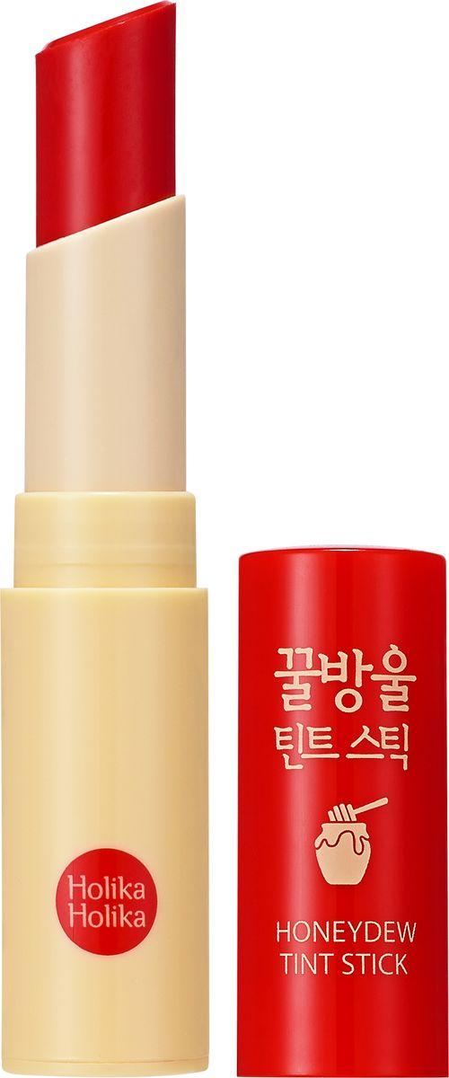 Holika Holika Тинт-бальзам Хани Дью, тон 01, яблоко,A7891451Тинт-бальзам на основе меда манука увлажняет и смягчает губы, лечит мелкие трещинки и кожу вокруг губ, придает губам сочный красный цвет.