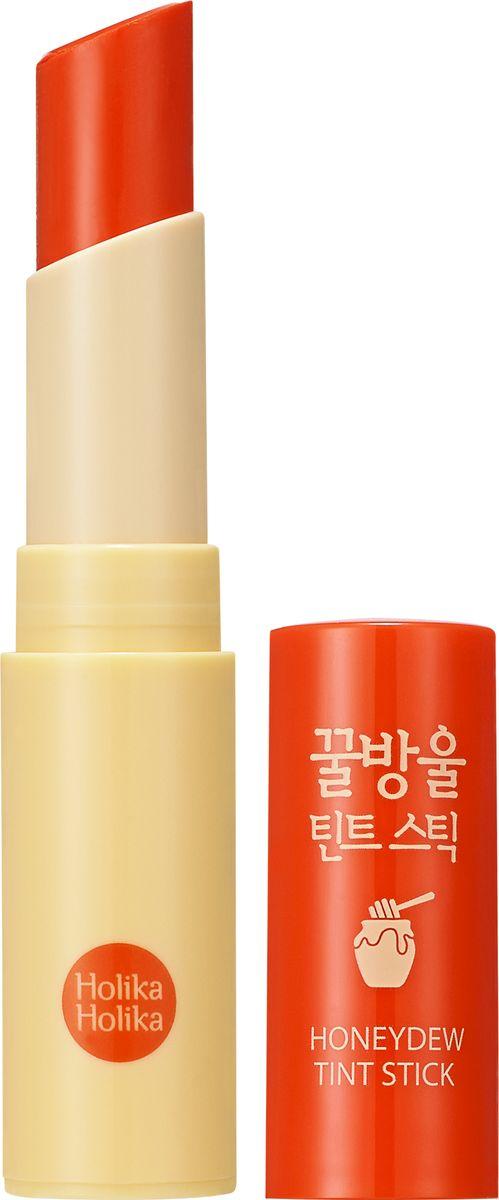 Holika Holika Тинт-бальзам Хани Дью, тон 03, апельсин,131100246Тинт-бальзам на основе меда манука увлажняет и смягчает губы, лечит мелкие трещинки и кожу вокруг губ, придает губам сочный цвет.