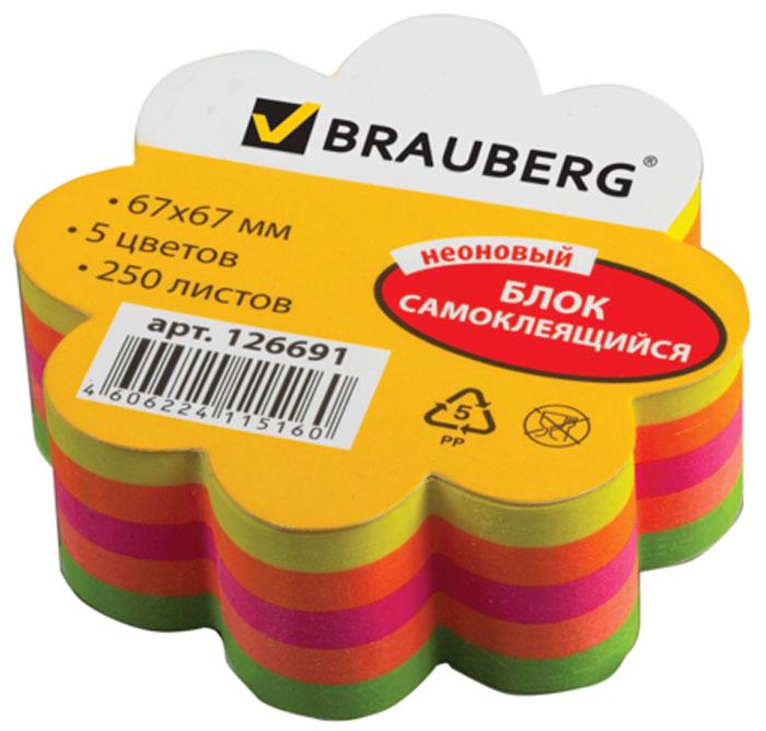 Brauberg Бумага для заметок Цветок с липким слоем 6,7 х 6,7 см 250 листов -