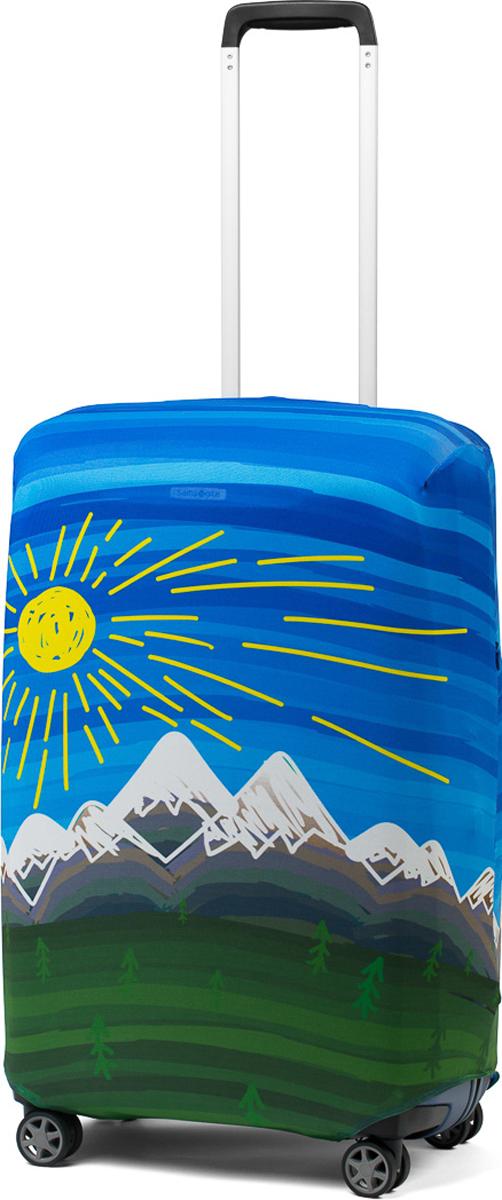 Чехол для чемодана Ratel Солнце и горы. Размер MRivaCase 8460 aquamarineСтильный и практичный чехол Ratel создан для защиты вашего чемодана. Благодаря очень прочной и эластичной ткани чехол Ratel отлично садится на любой чемодан. Все важные части чемодана полностью защищены, а для боковых ручек предусмотрены две потайные молнии. Внизу чехла - упрочненная молния-трактор. Наличие запатентованного кармашка служит ориентиром и позволяет быстро и правильно надеть чехол на чемодан. Ткань чехла – приятна на ощупь, легко стирается и долго сохраняет свой первоначальный вид.Назначение чехла Ratel:Защищает чемодан от пыли, грязи иразных повреждений. Экономит ваши деньги и время на обмотке пленкой чемодана в аэропорту. Защищает ваш багаж от вскрытия. Предупреждает перевес. Чехол легко и быстро снять с чемодана и переложить лишние вещи, в отличие от обмотки. Яркая индивидуальность. Вы никогда не перепутаете свой чемодан с чужим как на багажной ленте в аэропорту, так ив туристическом автобусе. Легкий и компактный, не добавляет веса, не занимает места. Складывается сам в себя. Характеристики:Материал: Бифлекс, плотность - 240 грамм.Тип застежки: молния. Размер чемодана: M (55-64 см).