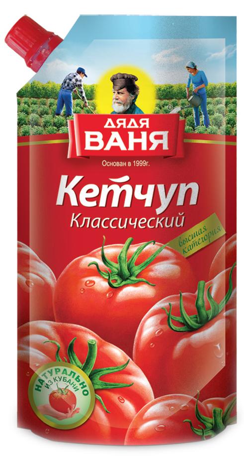 Дядя Ваня кетчуп классический ГОСТ, 330 гБП-00000159Вкусный традиционный кетчуп для любого стола и блюда. Для каждого холодильника.