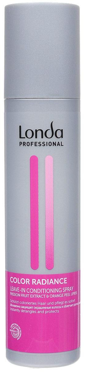 Кондиционер-спрей Londa Color Radiance, для окрашенных волос, 250 млFS-00897Кондиционер-спрей Londa Color Radiance эффективно ухаживает за окрашенными волосами, предотвращает вымывание и изменение цвета, защищает окрашенные волосы от воздействия ультрафиолетовых лучей. Мгновенные результаты: потрясающий блеск, легкость расчесывания.Применение: нанести на подсушенные полотенцем волосы. Не смывать. Характеристики:Объем: 250 мл. Производитель: Франция. Товар сертифицирован.