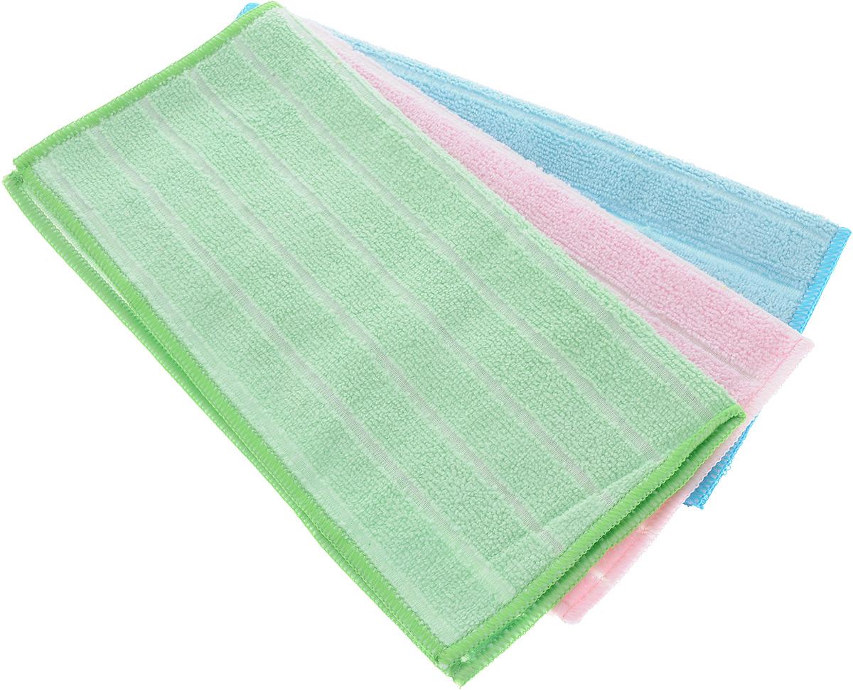 Салфетка универсальная Soavita Однотонные, цвет: голубой, розовый, зеленый, 30 х 30 см, 3 шт09840-20.000.00Набор Soavita Однотонные состоит из трех салфеток, выполненных из микрофибры (80% полиэстер и 20% полиамид). Изделия отлично впитывают влагу, быстро сохнут, сохраняют яркость цвета и не теряют форму даже после многократных стирок. Салфетки универсальны, очень практичны и неприхотливы в уходе.